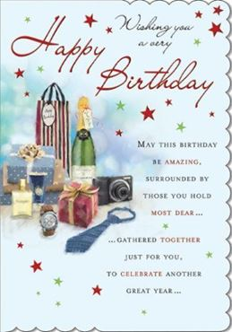 Picture for category Male Open Birthday Cards