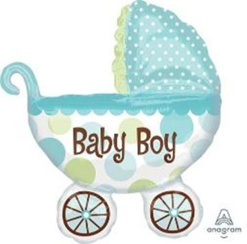 Picture of BABY BOY BUGGY FOIL BALLOON 28X31