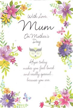 Picture of WITH LOVE MUM ON MOTHERS DAY CARD